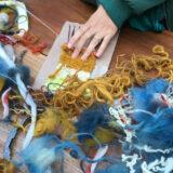 Foto: Cathelijne Esser - Textielkunstenaar en vrijeschoolmoeder Claudy Jongstra werd geïnterviewd op het Waldorf100 Festival