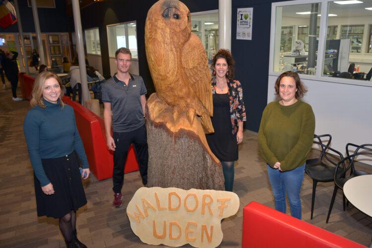 Een deel van de werkgroep Waldorf Uden: Yvette, Alwin, Joyce en Esther. (foto: Henk Lunenburg)